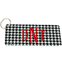 Houndstooth Metal Keychain #KC-2214