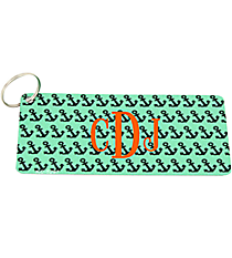 Mint with Black Anchors Metal Keychain #KC-5297