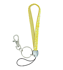 Yellow Sparkling Iridescent Crystal Keychain #KC85X178Y