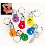 1 Holiday Lightbulb Light-Up Key Chains #4/3601