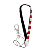 Red and Clear Checkered Sparkling Crystal Keychain #KC85X106FX1C