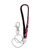 Dark Rose and Black Mixed Sparkling Crystal Keychain #KC85X106T228X1