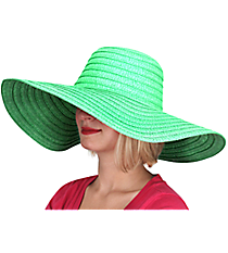 Mint Wide Brim Floppy Sun Hat #KI-40088-MINT