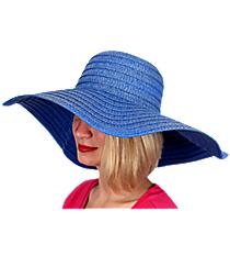 Royal Blue Wide Brim Floppy Sun Hat #KI-40089-ROYAL