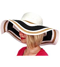 Sand Dunes Wide Brim Floppy Sun Hat #KI-40091-BK/WH/KH