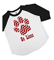 Chevron Paw Kids 3/4 Sleeve Raglan Tee *Choose Your Colors