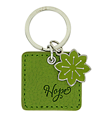 Green LuxLeather Romans 15:13 Hope Keyring #KLL004