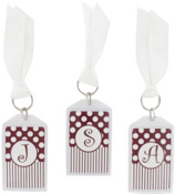 "Gameday Maroon & White 3"" Acrylic Keytag #979 Choose Your Initial"