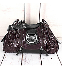 SALE! Plum Faux Croco Leather Bag #KTI4579-PLUM