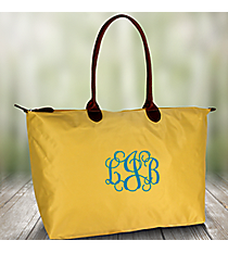 Solid Banana Yellow Large Tote Bag #ROL553-BANANA
