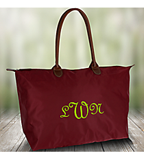 Solid Burgundy Large Tote Bag #ROL553-BUR