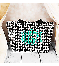 Houndstooth with Black Trim Insulated Lunch Bag #LB103-606-B/W