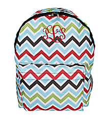 Multi-Color Chevron Backpack #LBP-1323