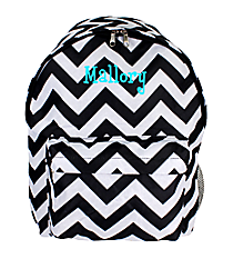 Black and Gray Chevron Backpack #LBP-1324