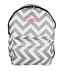 Gray and White Chevron Backpack #LBP-1325