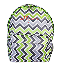 Green and Gray Chevron Backpack #LBP-1326