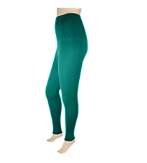 Forest Teal Jacquard High Waisted Fleece Ankle Leggings #SP-13JXJ15-FLEECE