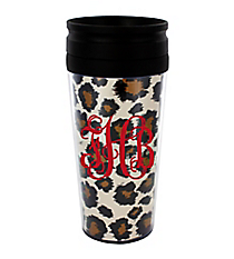 Leopard 14 oz. Travel Tumbler with Black Lid #WLCM338PP-CL-U