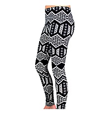 Black and White Multi-Print Chevron Leggings #LGP-504
