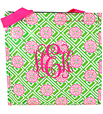 Green and Pink Lucky Girl Power Lunch Tote #LG-PL-000186