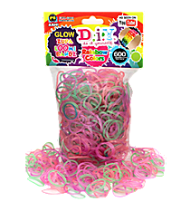 600 Glow-in-the-Dark Zupa Loomi Refill Bandz #BR-315G