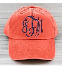 Washed Poppy Baseball Cap #LP101