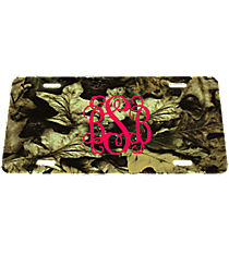 Leaf Camouflage Metal License Plate #LP-5267