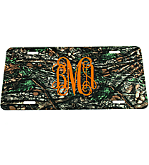Camouflage Metal License Plate #LP-5268