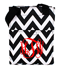 Black and White Chevron Insulated Lunch Tote #LT11-1324B
