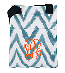 Blue Airbrushed Chevron Insulated Lunch Tote #LT11-1330-1