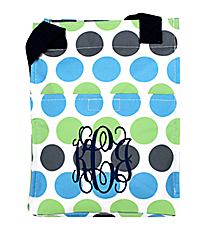 Tri-Colored Polka Dots Insulated Lunch Tote #LT11-1331-1