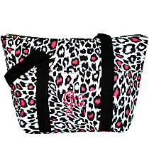 Pink Leopard Print Insulated Lunch Bag #LT15-803