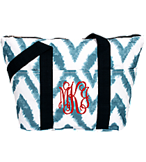 Blue Airbrushed Chevron Insulated Lunch Bag #LT15-1330-1