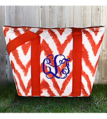 Red Airbrushed Chevron Insulated Lunch Bag #LT15-1330-2