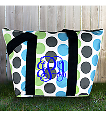Tri-Colored Polka Dots Insulated Lunch Bag #LT15-1331-1