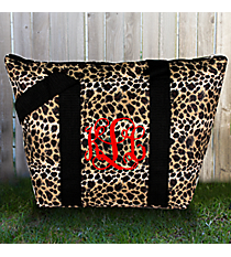 Leopard with Black Trim Insulated Lunch Bag #LT15-2008