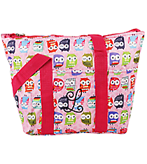 Hot Pink Hootie-Hoo Insulated Lunch Bag #C15-401-HPINK