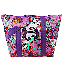 Purple Paisley Insulated Lunch Bag #C15-513