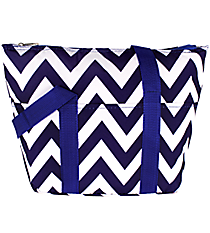 Blue Chevron Insulated Lunch Bag #C15-601-BL