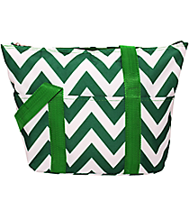 Green Chevron Insulated Lunch Bag #C15-601-G