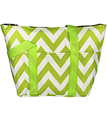 Light Green Chevron Insulated Lunch Bag #C15-601-LG