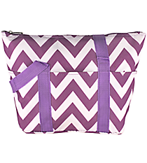 Purple Chevron Insulated Lunch Bag #C15-601-PU