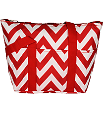 Red Chevron Insulated Lunch Bag #C15-601-R