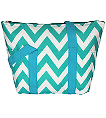 Turquoise Chevron Insulated Lunch Bag #C15-601-TO