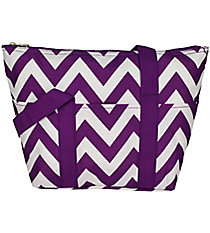 Dark Purple Chevron Insulated Lunch Bag #C15-601-Z