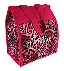 Pink Leopard Insulated Lunch Tote #CC18-506