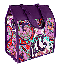Purple Paisley Insulated Lunch Tote #CC18-513