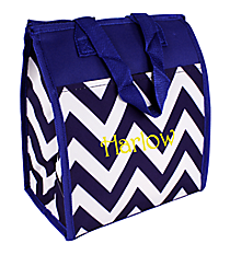 Blue Chevron Insulated Lunch Tote #CC18-601-BL