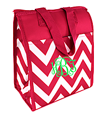 Pink Chevron Insulated Lunch Tote #CC18-601-P