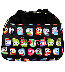 Black Hootie-Hoo Bowler Style Insulated Lunch Bag #CC20-402